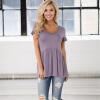 новая мода летняя рубашка женская рубашка дикий лоскутное шитье шею с коротким рукавом многоцветные женские футболки женские вершины