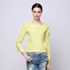 Волк (canis@модные женские летние из шифона длинные рукава блузки повседневные топы футболки-----желтый