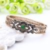 Классические турецкие женщины Геометрия смолы Браслеты и браслеты Античный золотой цвет Rhinestone Ретро ювелирные изделия Bangle