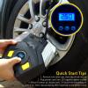 12V Электрический автомобильный воздушный компрессорный насос Двойной цилиндр Светодиодный свет Цифровой дисплей Автомобильный авт автомобильный аксессуар