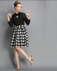 Lovaru ™ 2014 новый зимней моды плед большие талии юбки пачки юбки высокого качества моды юбки женщин юбки