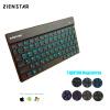 Zienstar русский/Украина Беспроводной клавиатура Bluetooth 3.0 с 7 цветов с подсветкой для Ipad, Macbook, ноутбук, компьютер PC и комплект ящиков для инструмента украина