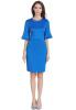 Женское короткое элегантное коктейльное платье - короткие рукавы