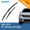 SUMKS Wiper Blades for Nissan Armada 24&22 Fit Hook Arms 2005 2006 2007 2008 2009 2010 2011 2012 2013 2014 2015