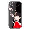 Youjia Apple iPhoneX Mobile Shell Apple 10 Glass Backboard Girl Мягкая сторона All-inclusive Защита от падения Элегантный черный glass girl