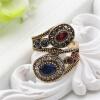 Новый антикварный турецкий ринг Ретро золотой цвет Rhinestone полые из двойной цветочные обмотки кольца женщин классический подаро