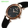Женские часы SANDA с натуральной кожаной погодой Женские модные знаменитые наручные часы с бриллиантами