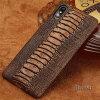 Фото Чехол из натурального кожаного телефона для iPhone X Case Ostrich Foot Texture Back Cover для 6 6S 7 8 Plus Case gumai silky case for iphone 6 6s black
