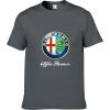 Alfa Romeo Футболки для мужчин Футболка Модные бренды Футболка Мужские повседневные Короткие рукава Футболка Punisher Футболка 100 футболка babycollection футболка