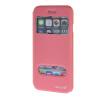 MOONCASE ЧЕХОЛ ДЛЯ Apple iPhone 6 Plus ( 5.5 inch ) View Window Leather Flip Bracket Back Cover Pink roar korea noble leather view window case for iphone 7 plus 5 5 inch black