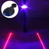 3 светодиодные лампы Велосипед Велосипед Задний предупреждающий проблесковый маячок с двумя лазерными линиями