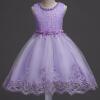 Прекрасные кружевные аппликации Бисероплетение Платья для девочек Платья для детей Платья для новорожденных Свадебные платья для первого причастия vestido comunion платья для девочек