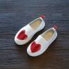 Мальчики Девушки Кожа PU Любовь Обувь Вырезки Выпуклые Уличные Дети Slip на Обувь Девушки Мальчики Sneaker Девушки Тренеры зебра обувь подростковую любовь