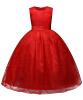 Cute Ball Платье кружева Цветочная девушка платья без рукавов O-образным вырезом Девушки Детские вечерние платья Платья первого причастия