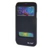 MOONCASE Samsung Galaxy S5 I9600 чехол для View Slim Leather Flip Pouch Bracket Back Cover Sapphire стоимость