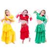 2018 Дети / Девушки / Детская одежда для танцев 5 шт. (Верхняя + юбка торта + цепочка талии + вуаль + рукав) Костюм для танца живо