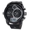 Мужская Цифровой Время Япония кварцевые часы двойной аналоговый дисплей Открытый спортивные часы черный V6 Марка водостойкой наручные часы V260