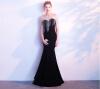 Вечернее платье из горного хрусталя вечернее платье новый банкет длинный благородный элегантный тонкий хвост рыбы ежегодный хозяин хозяин уральской тайг