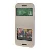 MOONCASE Сторона Флип жесткий борт Тонкий кожаный кронштейн Window чехол для HTC One M8 Белый стоимость