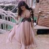 Lovaru ™2015 новому сексуальный длинные платья ретро элегантный женской одежды из твида осень зима осень партия ночной клуб платье