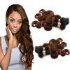 Nami Hair 3 Bundles #4 Color Light Brown Brazilian Body Wave100% Human Hair Extension12-26 No Shedding No Tangle Free Shipping free shipping tracking no 100