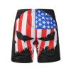 Летние новые мужские брюки 3D флаг череп печать пляжные штаны случайный прилив бренд мужская одежда одежда