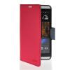 MOONCASE Classic cross pattern Leather Side Flip Wallet Card Slot Pouch Stand Shell Back ЧЕХОЛДЛЯ HTC Desire 816 Hot pink htc desire 650