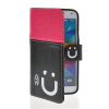 MOONCASE Leather Side Flip Wallet Card Slot Pouch Stand Shell Back ЧЕХОЛДЛЯ Samsung Galaxy S5 I9600 Pink Black mooncase leather side flip wallet card slot pouch stand shell back чехол для samsung galaxy e7 black
