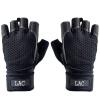 ЛАК спортивный фитнес перчатки тренировки оборудование износ не скользят перчатки верхом перчатки продлен на запястье черный XL код