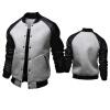zogaa новая мода мужской пиджак слим бейсбольную куртку большой карман