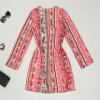 Lovaru ™ 2015 лета стиль Женская мода мини платье с длинным рукавом o-образным вырезом высокого качества, мягкое и удобное платье горячей продажи детство воспитание и лета юности русских императоров