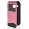 MOONCASE View Window Leather Side Flip Wallet Card Slot Pouch Stand Soft Shell чехол для Htc One Mini 2 ( M8 Mini ) pink mooncase view window leather side flip pouch ultra slim shell back чехолдля htc one mini 2 m8 mini pink