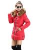 Новый Зимы Женщин Хлопка Ватник Теплый Пуховик Меховой Воротник Тонкий Верхняя Одежда верхняя одежда