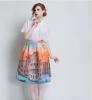 Lovaru ™Осенние новый женская мода ландшафтный дизайн пачки юбки талии Тонкий юбки