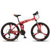 Byuebike 26 дюймов складные внедорожных передач двойной дискового тормоза велосипед горный велосипед мужчин и женщин