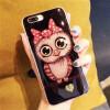Милый мультфильм Сова животных мягкие  чехол для iPhone 6 7 8 X Силиконовый чехол Роскошный блеск Bling  чехол для iPhone 7 8 плюс чехол накладка чехол накладка iphone 6 6s 4 7 lims sgp spigen стиль 1 580075
