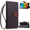 MOONCASE магнитные кнопки ремешок на запястье Flip кожаный бумажник карту почты от назад дело прикрытия Lenovo K3 Note A7000