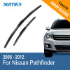 SUMKS Wiper Blades for Nissan Pathfinder 24&18 Fit Hook Arms 2005 2006 2007 2008 2009 2010 2011 2012