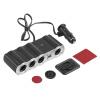 4 способ Мульти гнездо автомобильного прикуривателя Разветвитель с USB Plug адаптер зарядное устройство