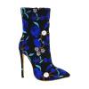 мода высокие каблуки длинные сапоги для женщин партия свадебной ткани Печатные цветы сапоги обувь плюс размер 2018 мода высокие каблуки длинные сапоги для женщин партия свадебной воздушной сетки печатные цветы сапоги плюс размер обуви
