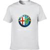 Alfa Romeo Футболки для мужчин Футболка Модные бренды Футболка Мужские повседневные Короткие рукава Футболка Punisher Футболка 100 шалуны футболка