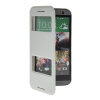 MOONCASE View Window Leather Side Flip Pouch Stand Shell Back ЧЕХОЛДЛЯ HTC One 2 (M8) White kalaideng protective pu leather case cover stand w visual window for htc one m8 white