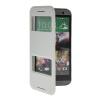 цена на MOONCASE View Window Leather Side Flip Pouch Stand Shell Back ЧЕХОЛДЛЯ HTC One 2 (M8) White