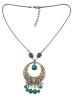 Idealway богемный стиль Сплав серебра Тонкий цепи бирюзовый бисер подвеска ожерелья ювелирных изделий Женщины