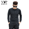 Playboy VIP коллекция свитер мужской бизнес Slim с длинными рукавами мужская молодежная мода дикие футболки 115 черный 4XL