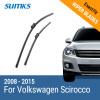 SUMKS Wiper Blades for Volkswagen Scirocco 24&19 Fit Push Button Arms 2008 2009 2010 2011 2012 2013 2014 2015 volkswagen scirocco фольксваген скирокко хэтчбек