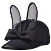 [Супермаркет] Jingdong ожесточенной Гданьск (шведская кроны) WMZ160413 ж Корейских бейсболок шляпы лук уши кролика шляпа черная волна свадебное платье 2015 wmz