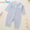 Мода Romper для младенца Мягкая одежда для девочек-девочек с длинным рукавом Весна-комбинезон для мальчиков Bodysuit
