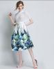 Lovaru ™ женские осенние 2015 новый цветок пояса талии юбки Туту юбки Hiqh доставленных юбки argent юбки женские