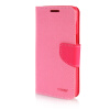 MOONCASE Cross pattern Leather Side Flip Stand Shell Back ЧЕХОЛДЛЯ Samsung Galaxy Grand Prime G5308W Pink